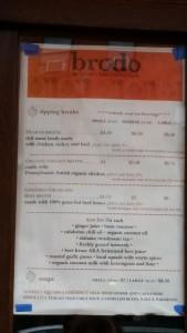 Brodo menu