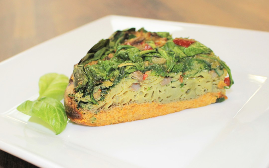 Garden Quiche on a Sweet Potato Crust