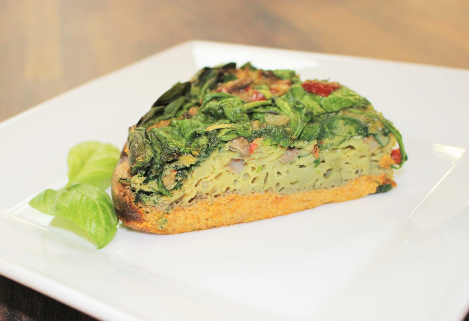 Garden Quiche with Sweet Potato Crust