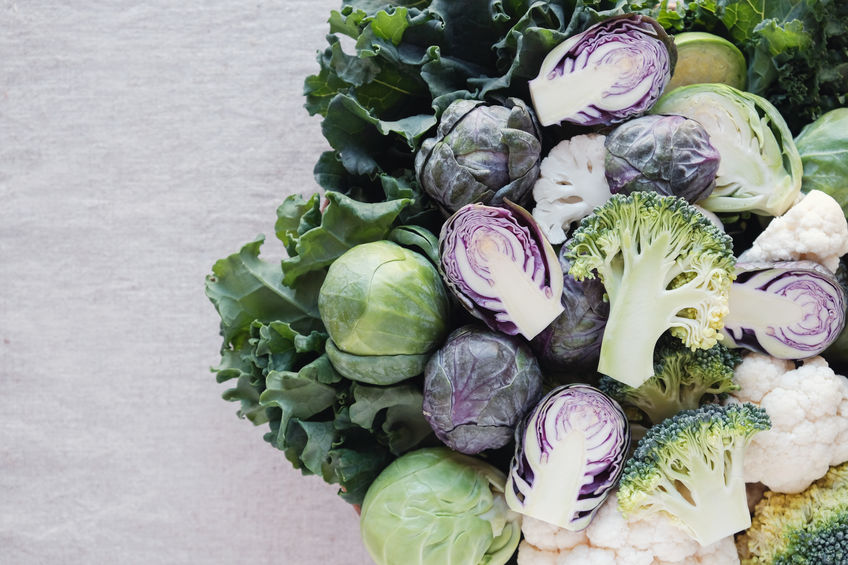 cabbage, Brussel sprouts, broccoli