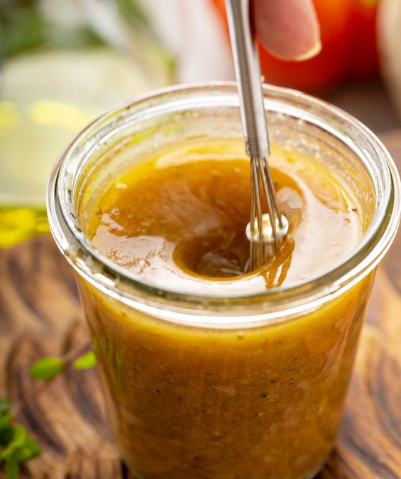 Tahini Garlic Lemon Salad Dressing